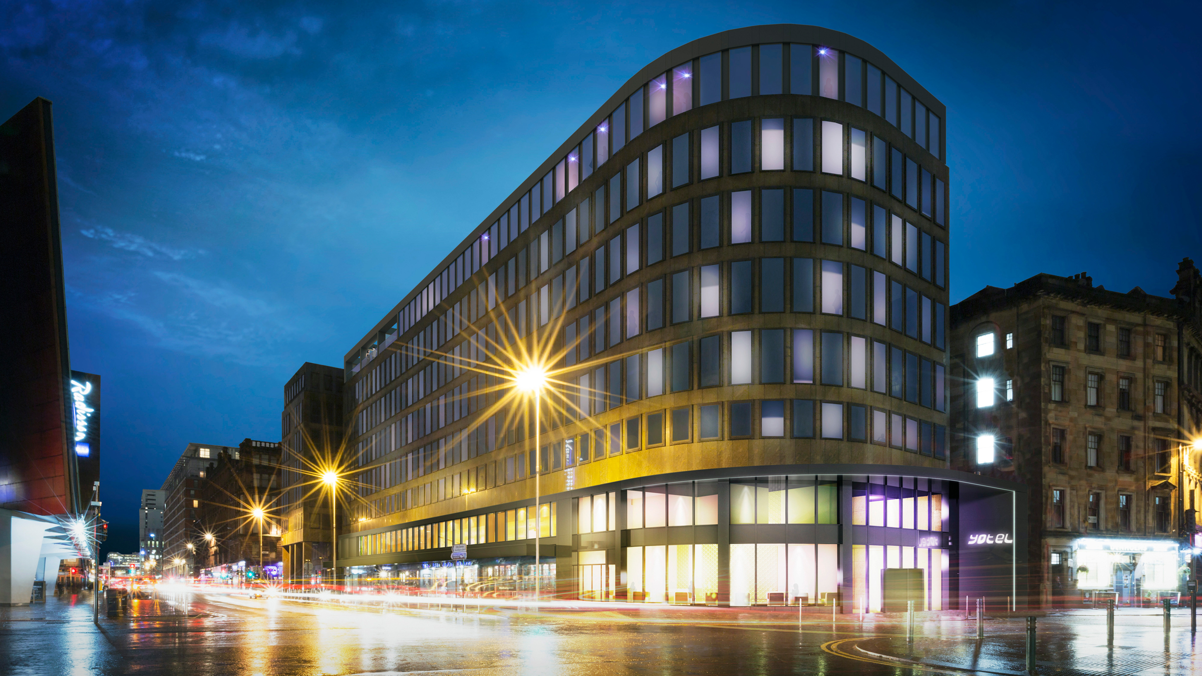 Yotel Lands in Glasgow with new Hotel featuring Rooftop Bar and Bowling Aley
