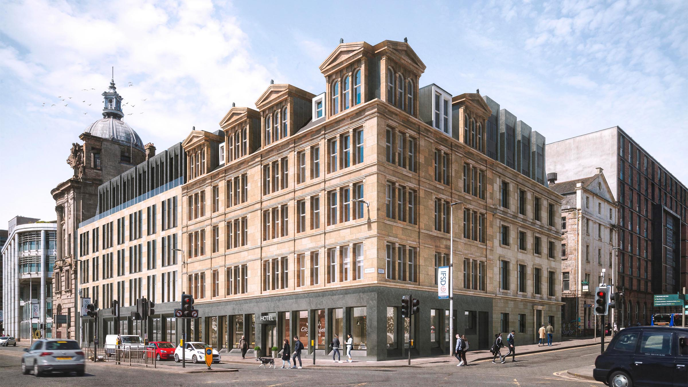 Mosaic applies to convert Oswald House and vacant site on Glasgow's Broomielaw into £18M new bespoke waterfront hotel development